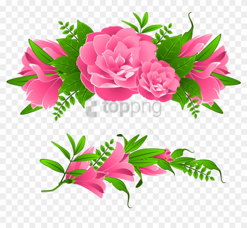 Free Png Transparent Flowers Border Png Image With - Flowers Clip Art Border Png #5998141