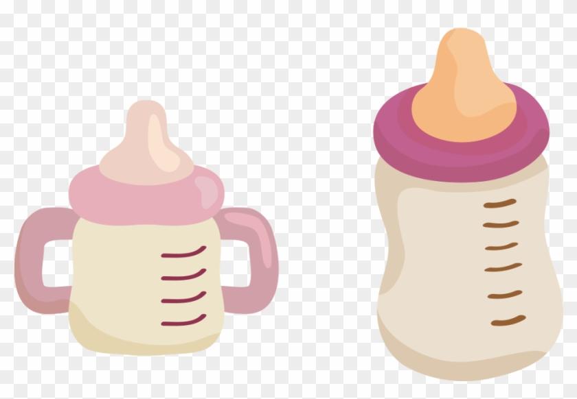 Baby Bottle Infant Child Breast Milk - Baby Milk Bottle Purple Clipart - Png Download #5998725