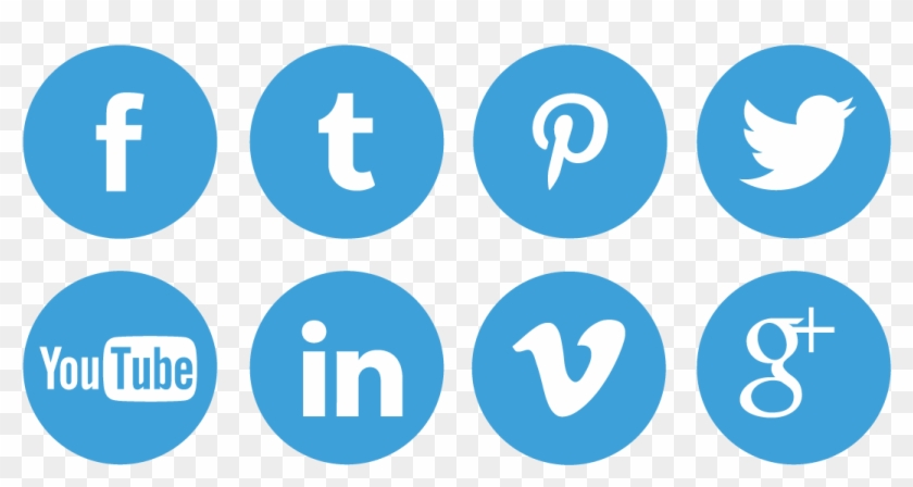 Personlized Social Media Icons Pc99 Solutions Yelp - Transparent Background Social Media Logos Png Clipart #60543