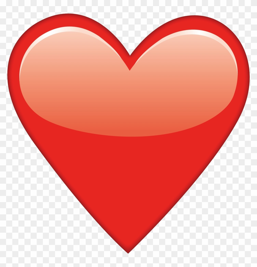 Red Heart Emoji Png Clipart #61201