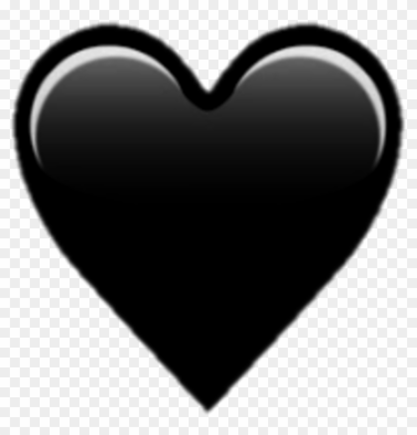 Black Heart Emoji Png - Png Emoji Black Heart Clipart #61325