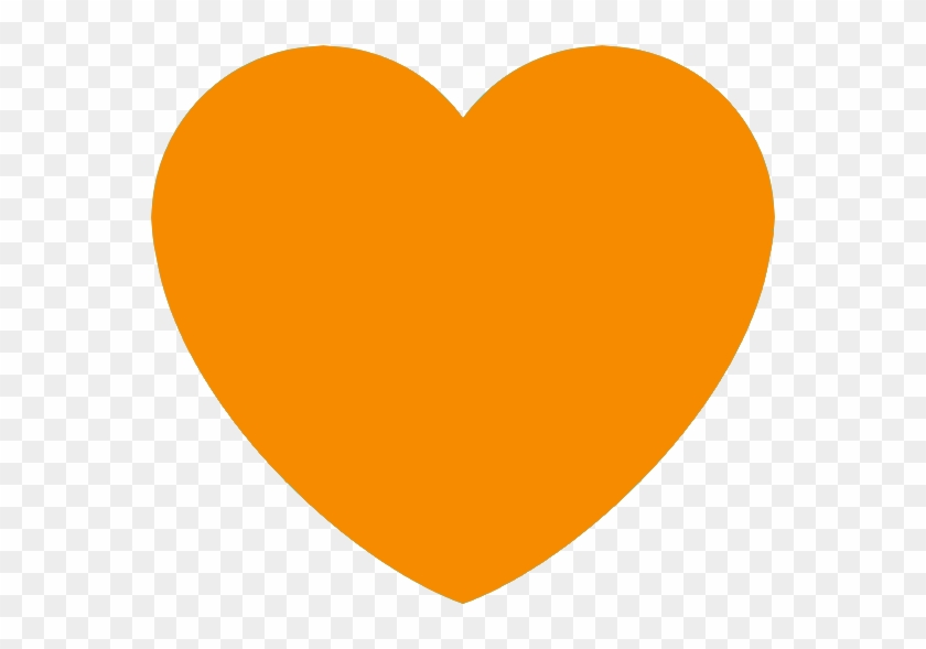 Orange Heart Discord Emoji - Orange Heart Emoji Discord Clipart #62211