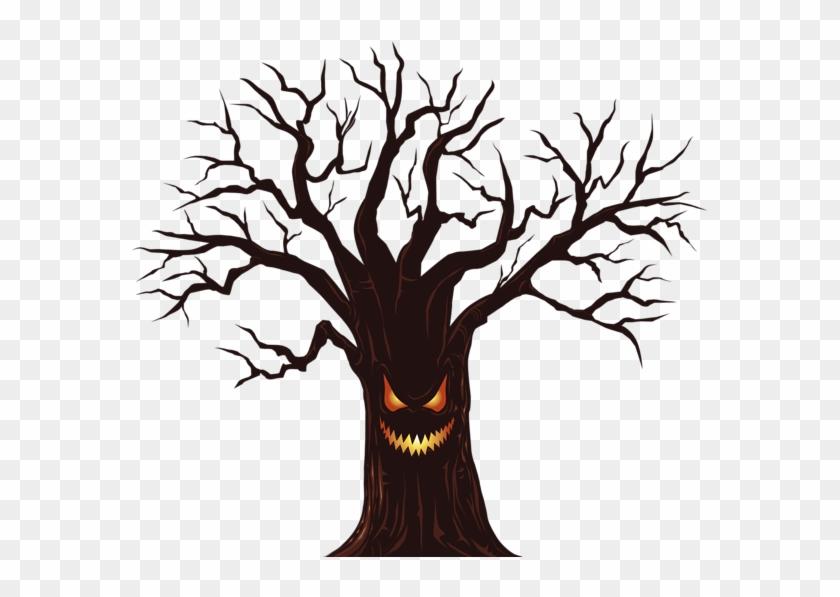 Creepy Halloween Clipart Halloween Spooky Tree Png Download 62466 Pikpng