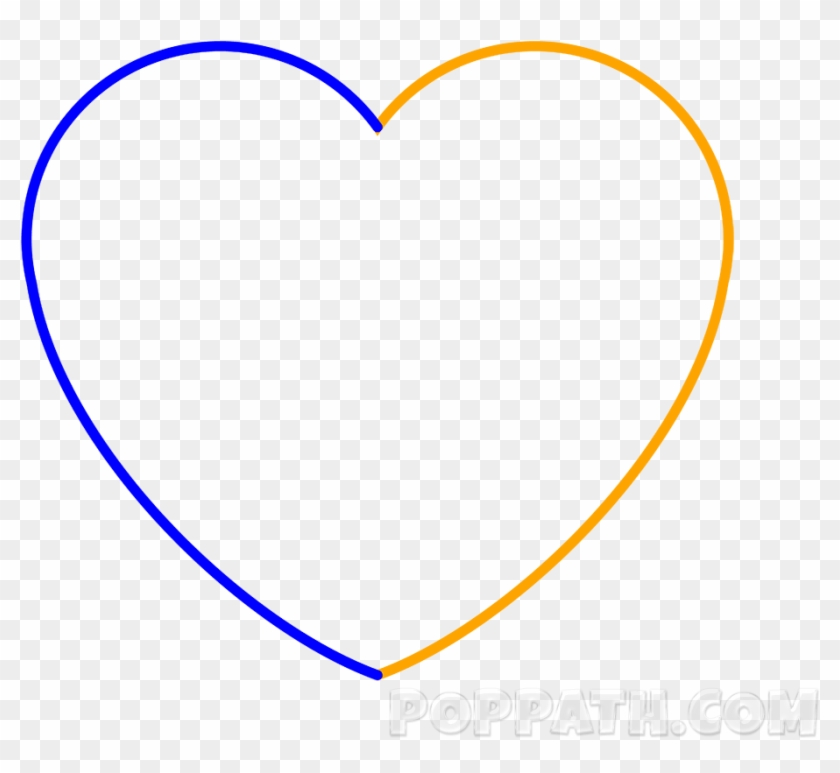 Complete The Heart By Drawing The Slanted C In The - Heart Clipart #62728