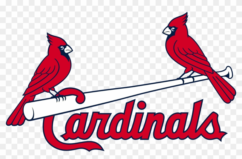 Louis Cardinals Birds On Bat Logo - Logo St Louis Cardinals Png Clipart #63431