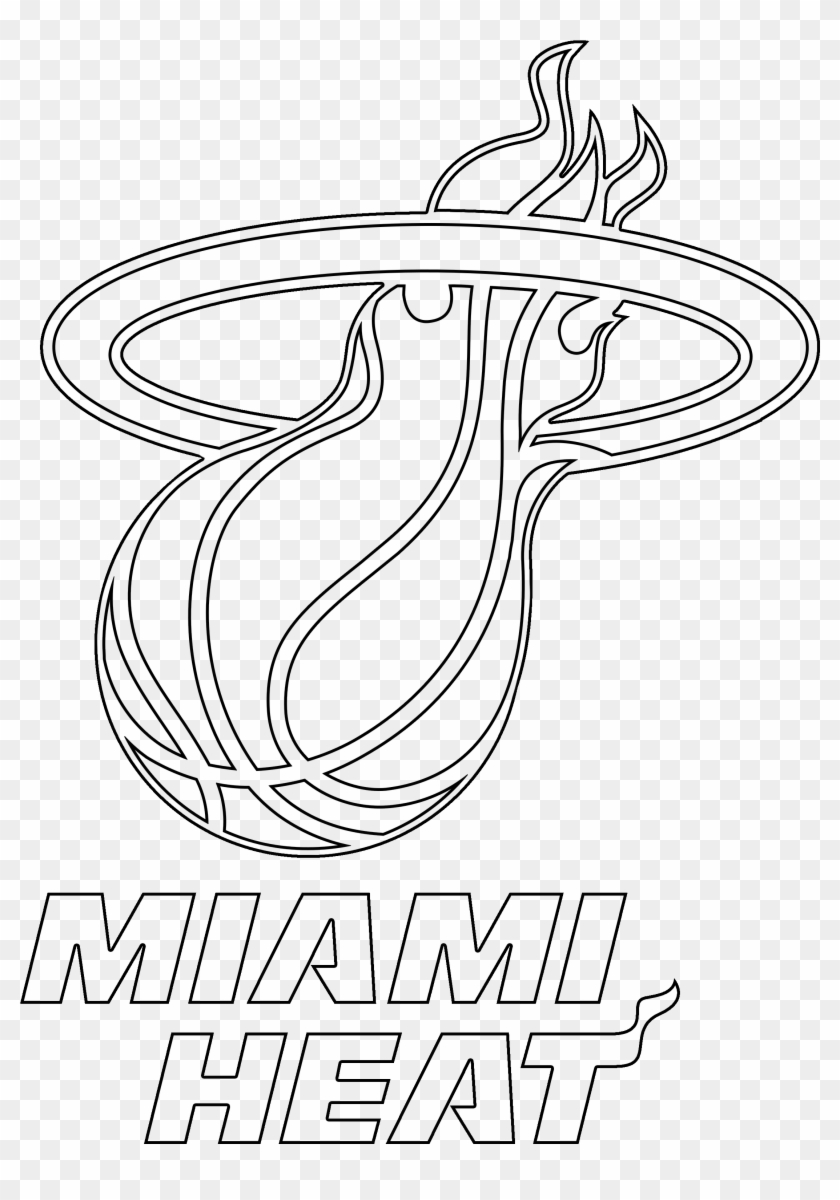Heat Com Free For Personal Basketball Team Logo Coloring Page