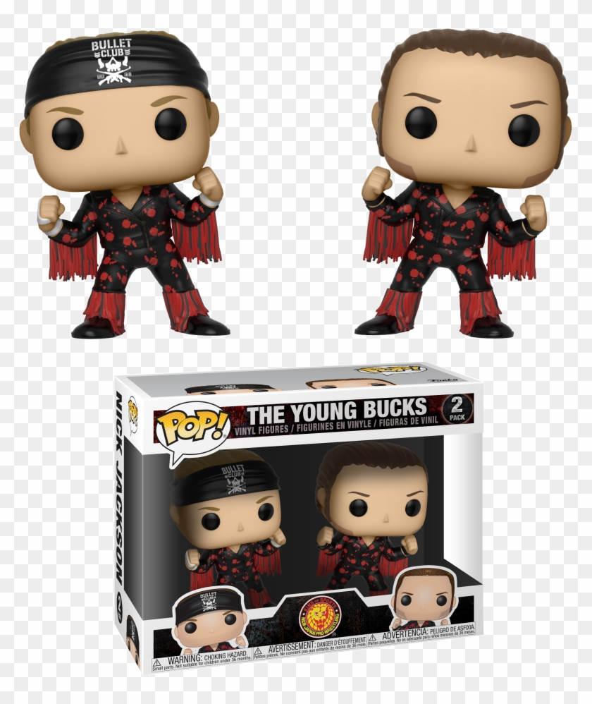 Pop Figure Bullet Club Young Buck 2-pack - Young Bucks Funko Pop Clipart #64474