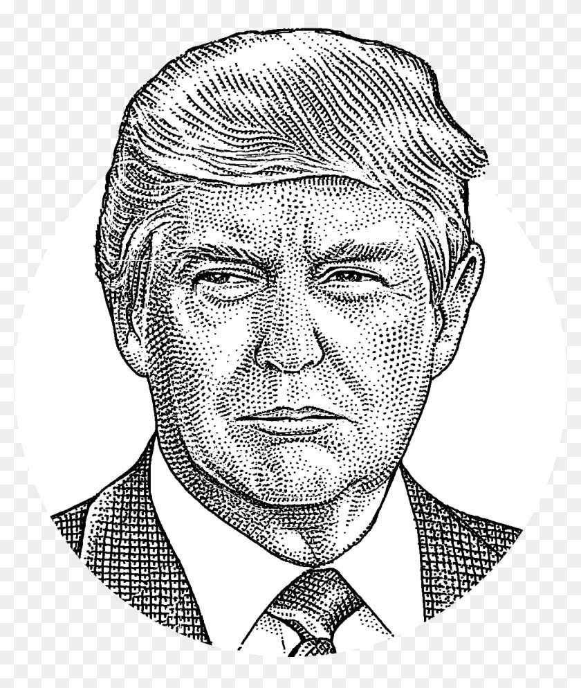 Donald Trump Has Won Alaska - Draw Donald Trump Clipart - Png Download