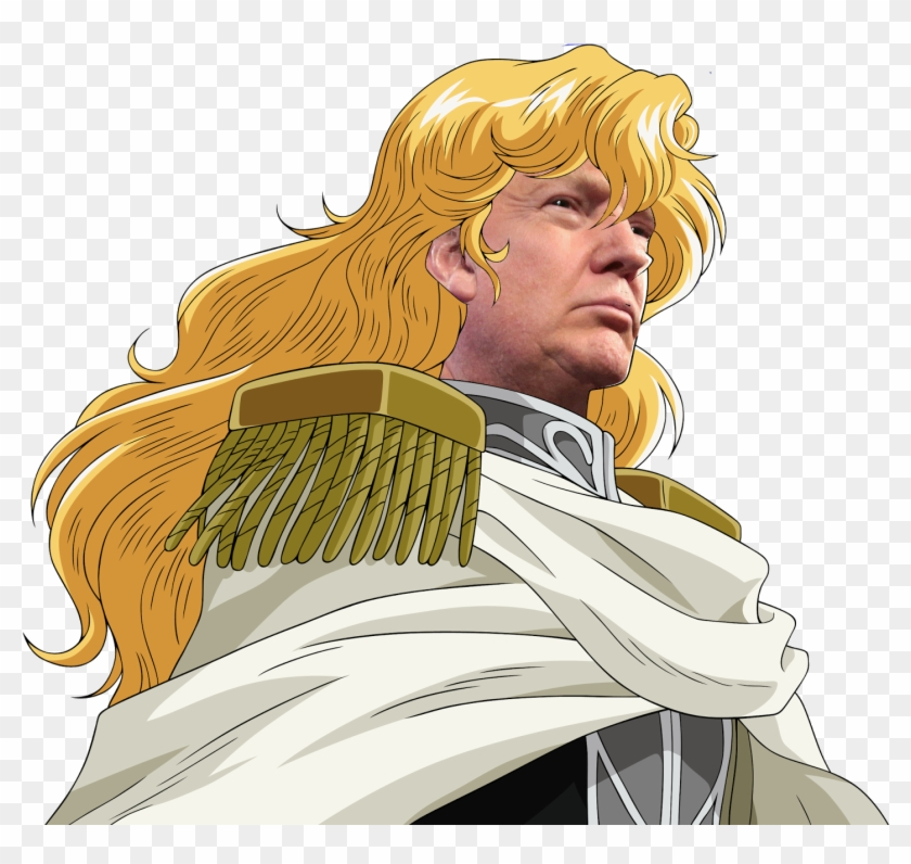 Donald Trump United States Of America Yellow Human - Legend Of Galactic Heroes Png Clipart #66530