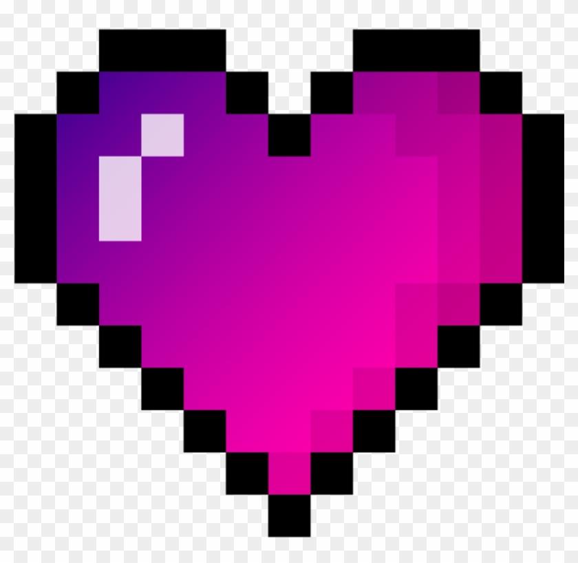 Stickers Png Tumblr Heart Hearts Pixel Сердце Пиксели - Broken Heart Pixel Png Clipart #67999