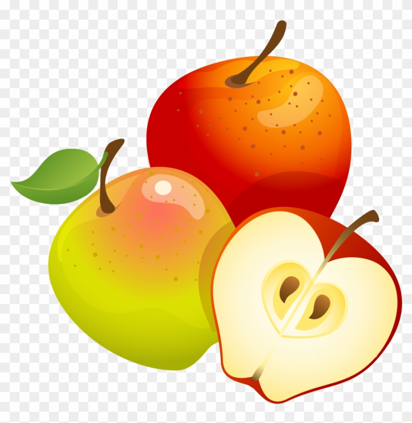 Large Painted Apples Png Clipart - Apples And Honey And Shofar, Transparent Png #68013