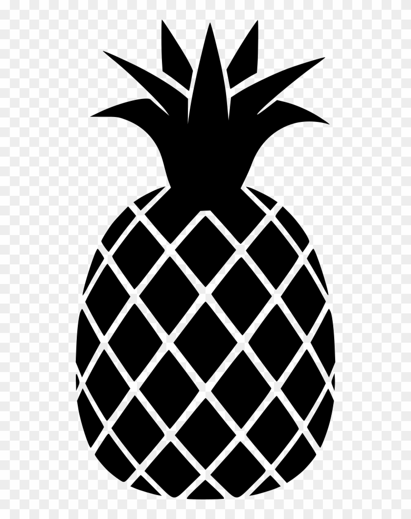 Png File Svg - Black And White Pineapple Png Clipart@pikpng.com