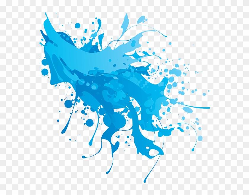 Banner Transparent Stock Remixit - Blue Splash Png Clipart #601242