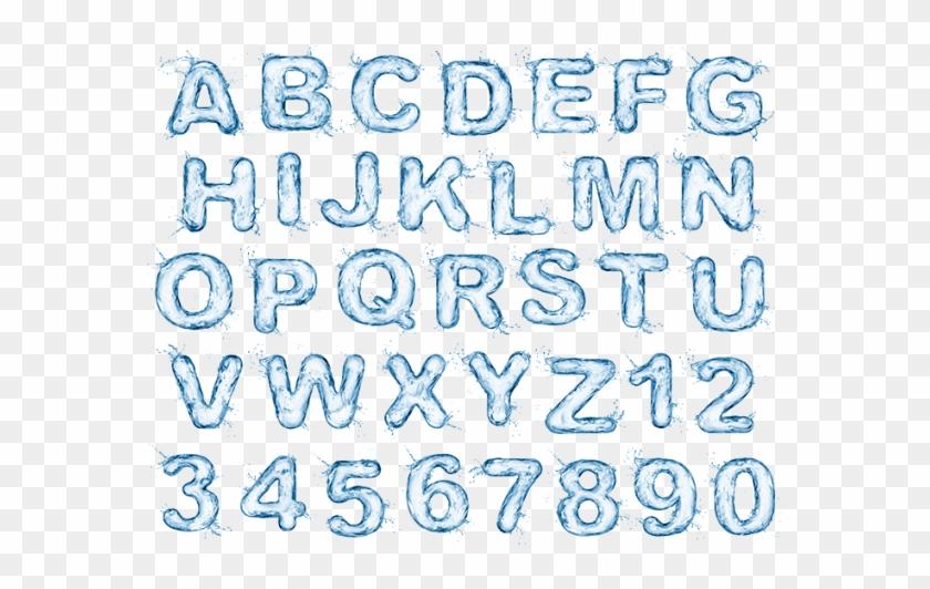 Water Splash Font - Calligraphy Clipart #601560