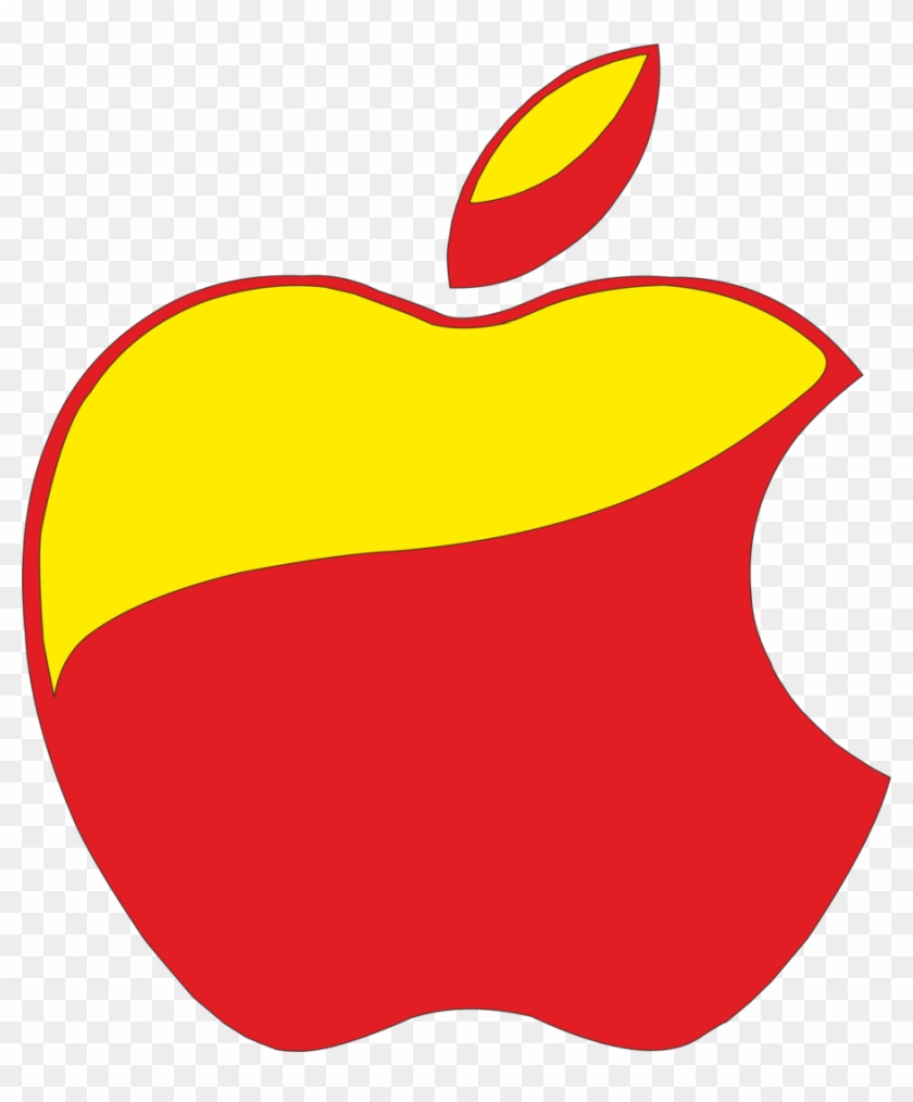 Apple Logo Red And Yellow By Victormtavarez - Red And Yellow Apple Logo Clipart #603628