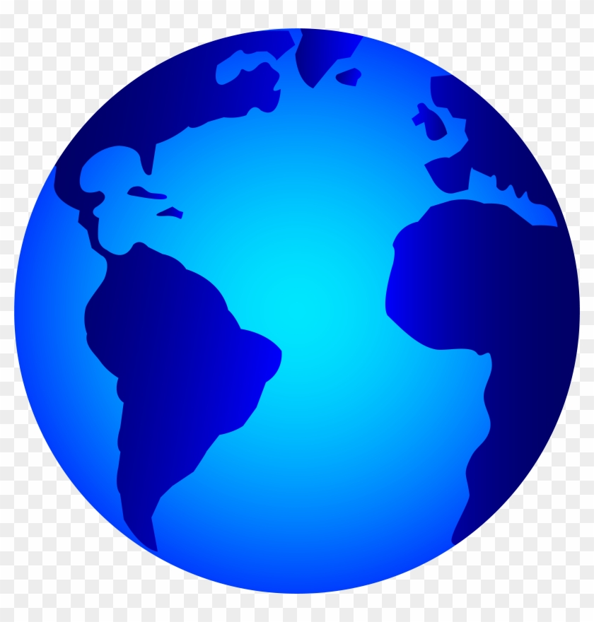 Globe Png - Earth Clipart Black And White Transparent Png #604056