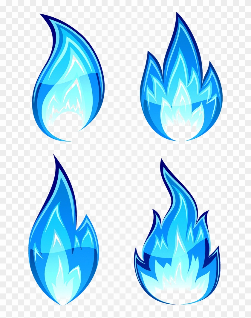 Blue Flame Png Download Image - Fire Drawing Clipart #605650