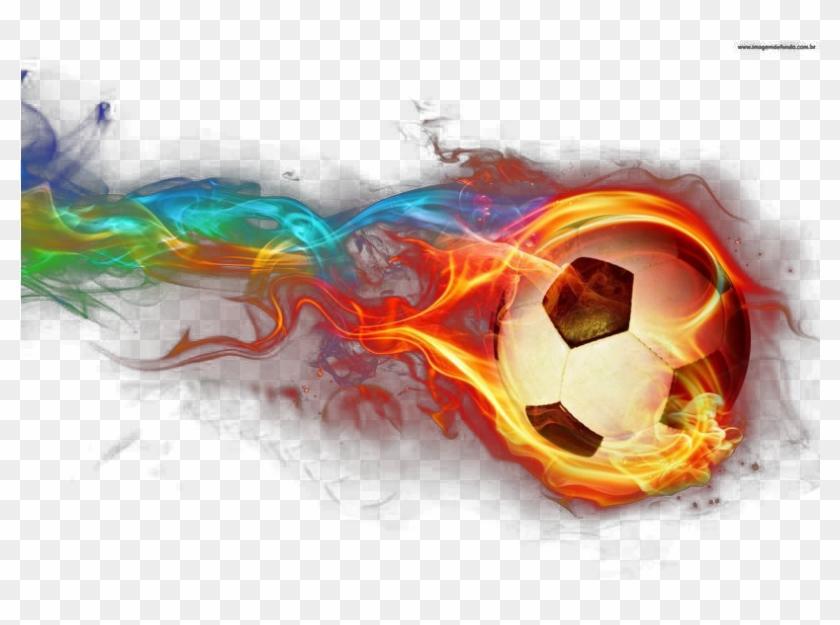 Football Flames Fire Light Wallpaper Flame Clipart - Fire Soccer Ball Drawing - Png Download #607193