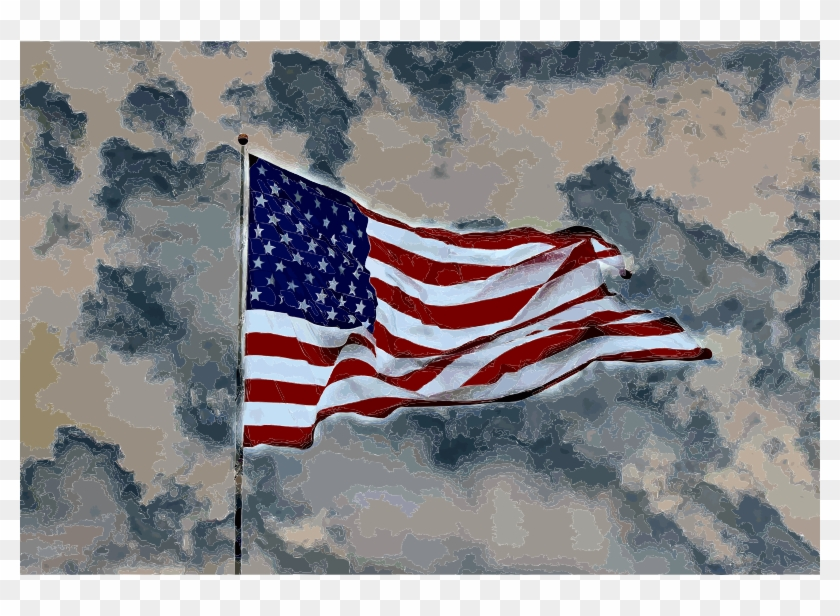 Medium Image - Flag Of The United States Clipart #609210