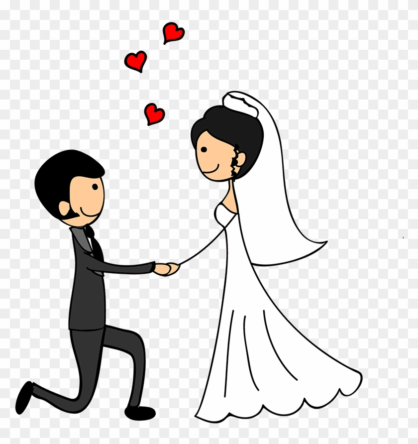 Wedding Couple Doodle , Png Download - Doodle Wedding Couple Logo, Transparent Png #6000325