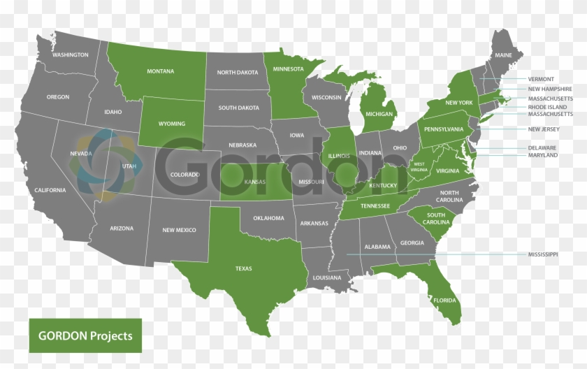 Gordon Project Locations - Animated Map Of Us Clipart #6003230