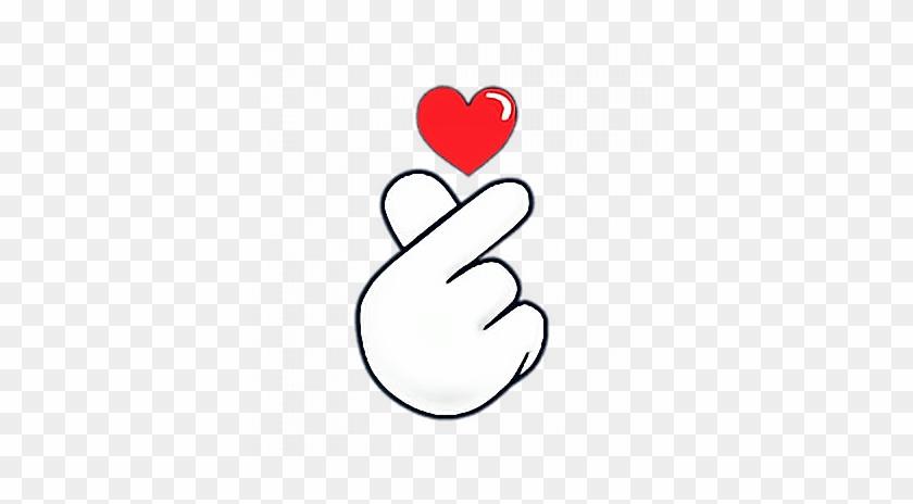 #heart #hands #love #ftestickers #stickers #autocollants - Finger Heart Emoji Png Clipart #6008837