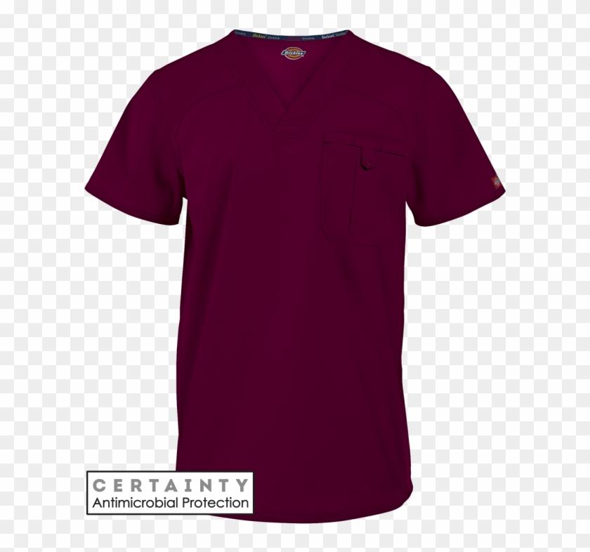 Dickies Eds Signature Stretch Scrubs Men's V-neck Top - Active Shirt Clipart #6013896