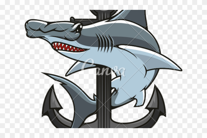 Cartoon Hammerhead Shark - Hammerhead Shark Clip Art - Png Download #6015759