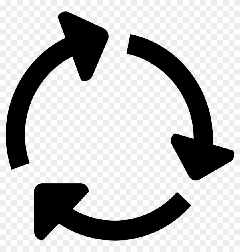 Circle Icon Png - 3 Arrows In Circle Clipart #6027024