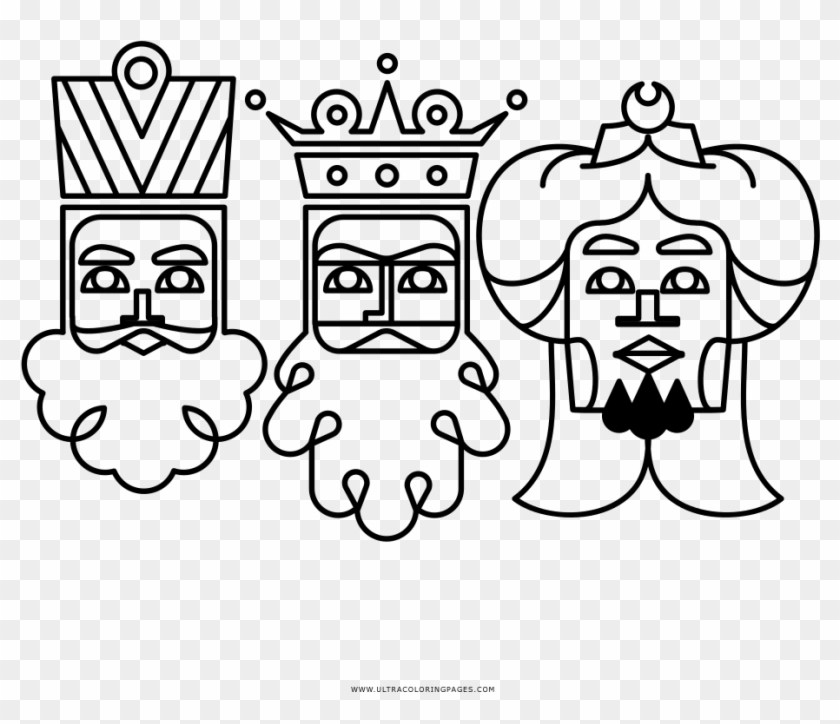 Dibujo De Los Tres Reyes Magos Para Colorear Illustration