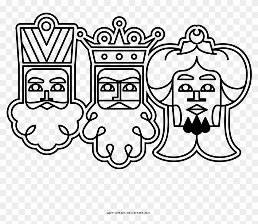 Los Tres Reyes Magos Página Para Colorear Cartoon Hd Png