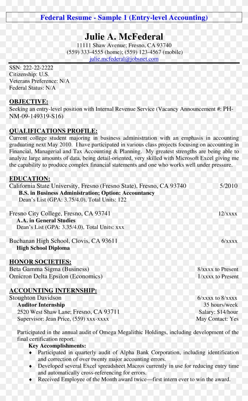 Free Entry Level Tax Accountant Resume Templates At Beginner Entry Level Resume Sample Clipart 6036292 Pikpng