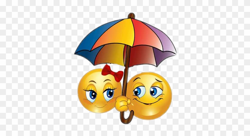 Emoji Rain Umbrella Love Hugs Morning Enjoytoday Smiley