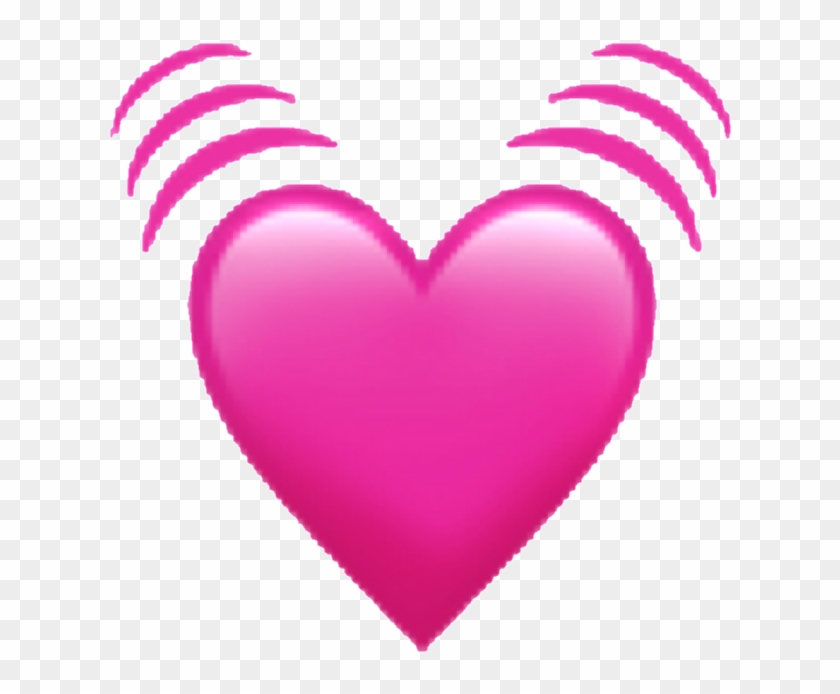 Emoji Sticker - Transparent Background Pink Heart Emoji Clipart #6050854