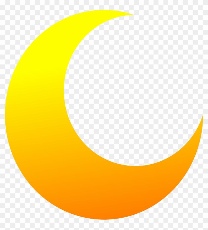 Half Moon Transparent - Yellow Half Moon Png Clipart #610145