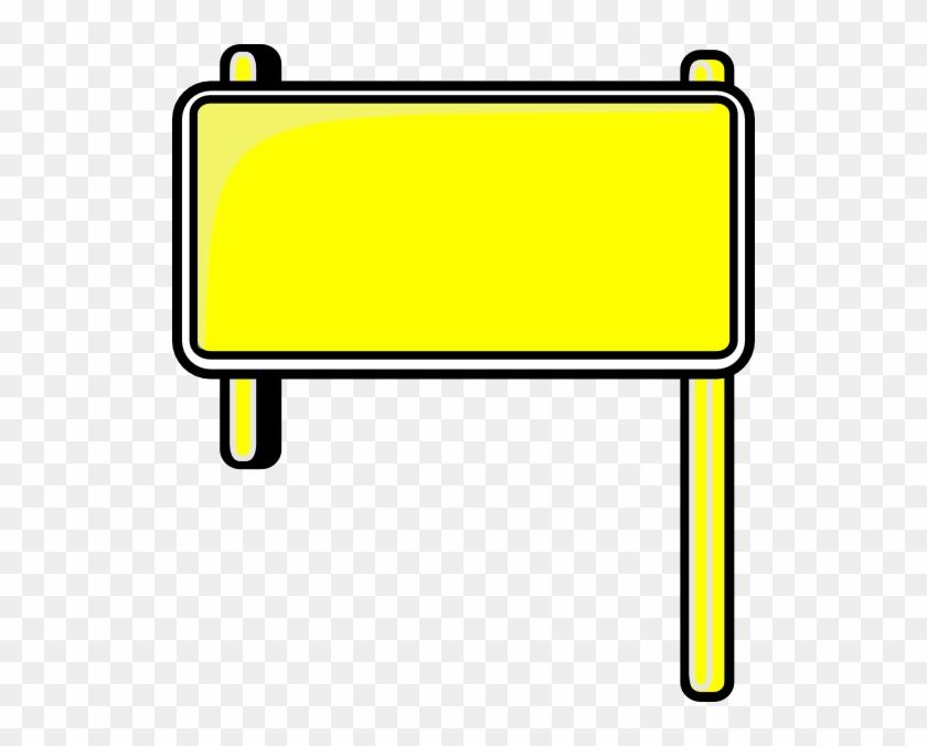 Sign Clipart Banner - Road Sign Plain - Png Download #614936