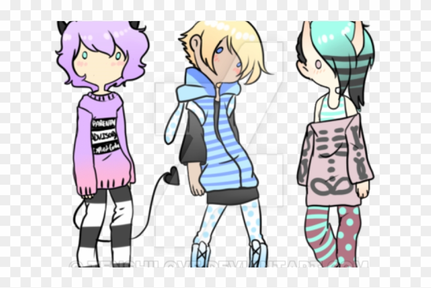 Alpaca Clipart Pastel Goth - Pastel Goth Outfit Ideas Boys - Png Download #616562