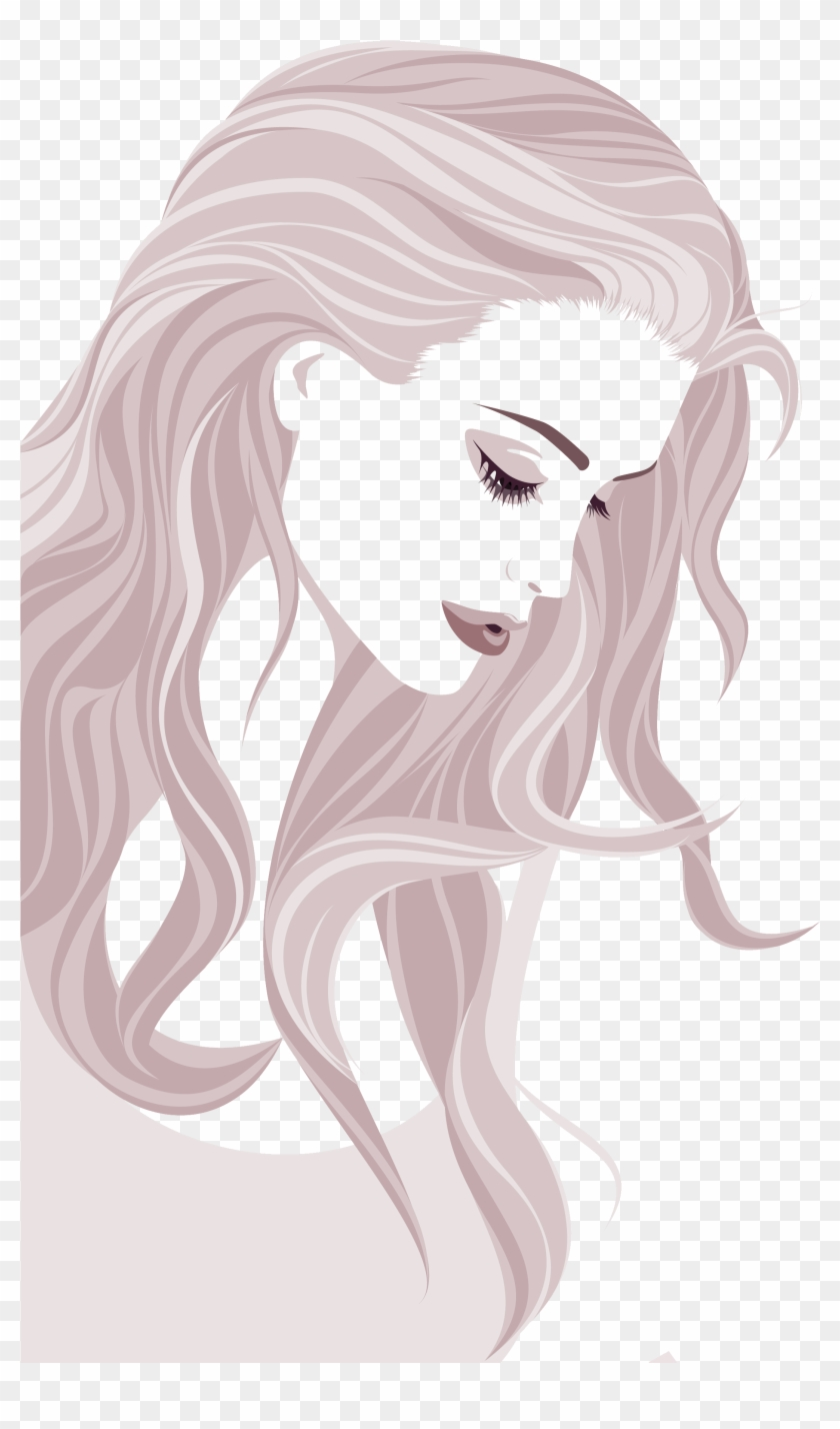 Banner Royalty Free Stock Beauty Vector Woman Hairstyle Women Hairstyle Png Clipart 618714 Pikpng