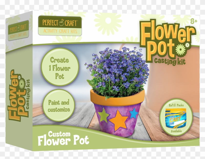 Perfect Flower Pot Casting Kit - Alpine Forget-me-not Clipart #620348