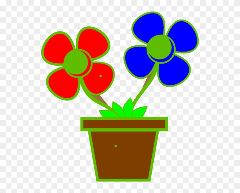 Cartoon Flowers In A Vase Clip Art Cliparts - Flower With Vase Clip Art - Png Download #620436