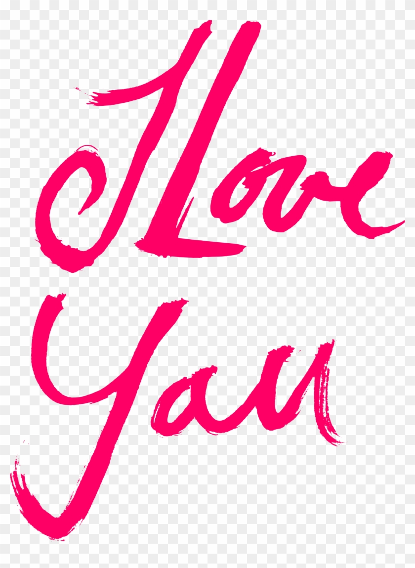 Free Download - Love You Text Png Clipart #620605