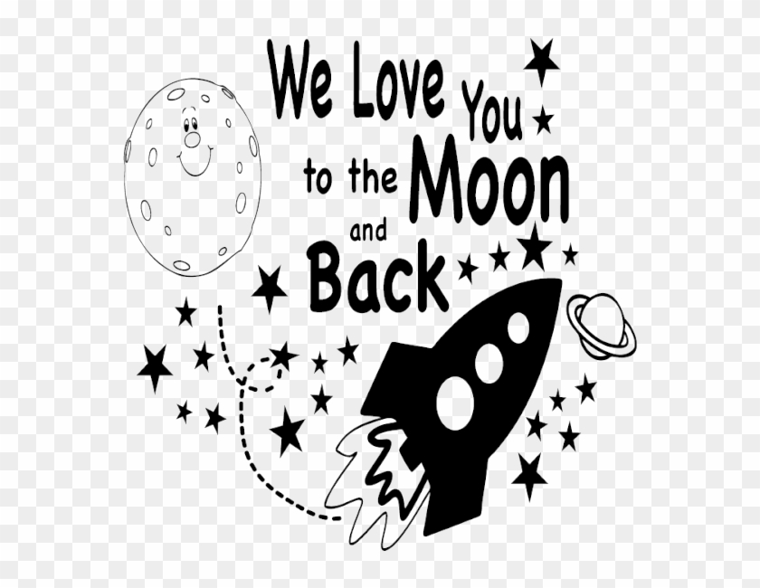 I Love You To The Moon And Back Png Pic - We Love You To The Moon And Back Images Clipart #621997