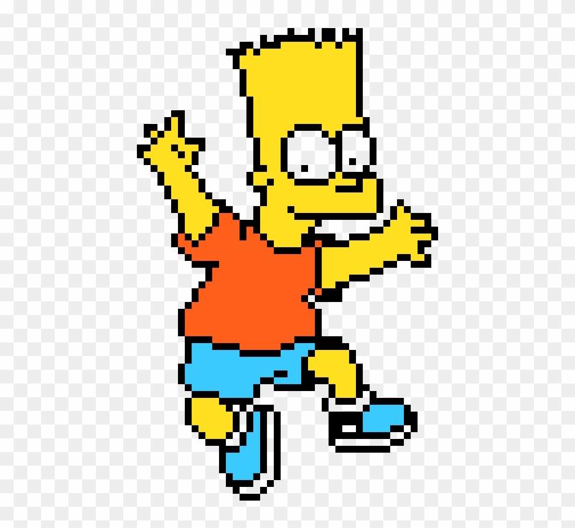 Bart Simpson Minecraft Pixel Art Bart Simpson Clipart