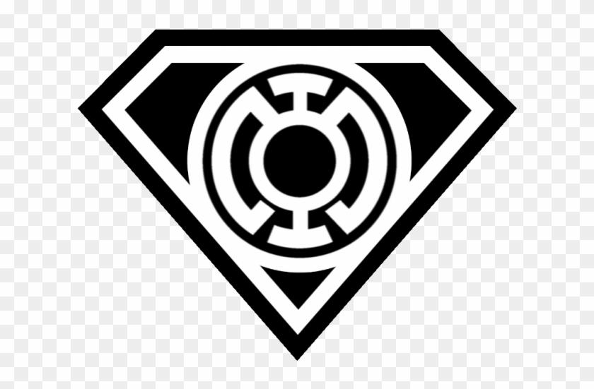 Superman Symbol Outline Superman Blue Lantern Logo Clipart 625877 Pikpng