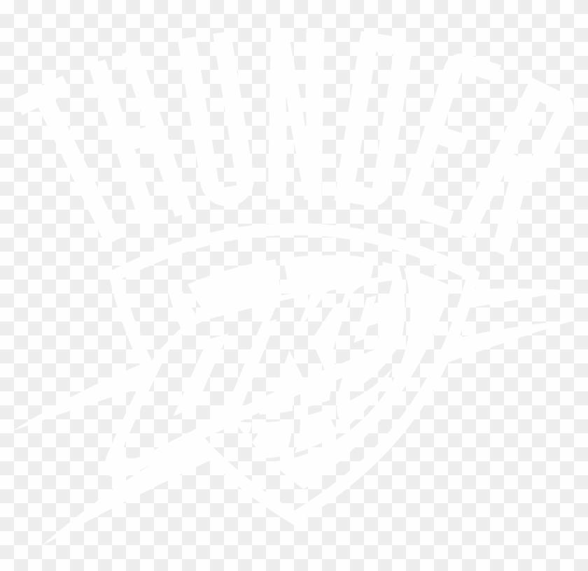 Okc Thunder Logo Png - Okc Thunder Logo Black Clipart #630100
