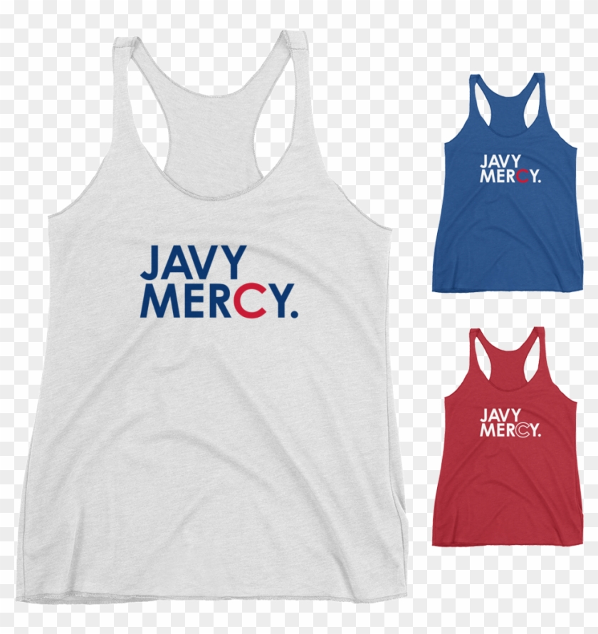Javy Mercy Chicago Cubs Racerback Tank - Active Tank Clipart #630572
