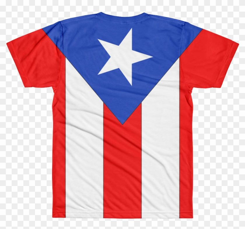 Puerto Rico Flag All Over Printed T Shirt - Active Shirt Clipart #631496