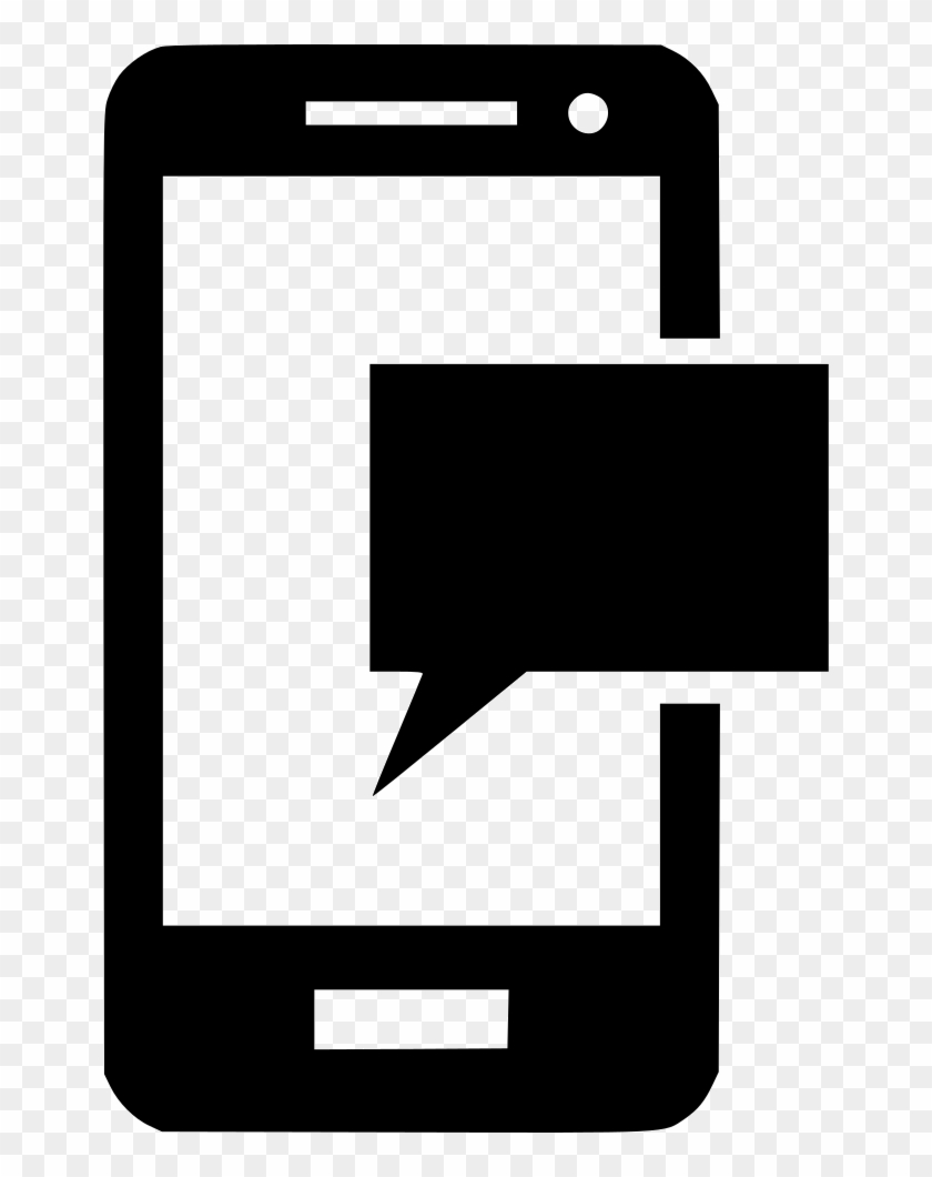 Message Bubble With Mobile Comments - Phone Text Icon Clipart #632989