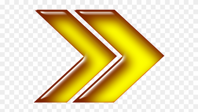 Double Arrow Yellow Right - Yellow Right Arrow Png Clipart #633167