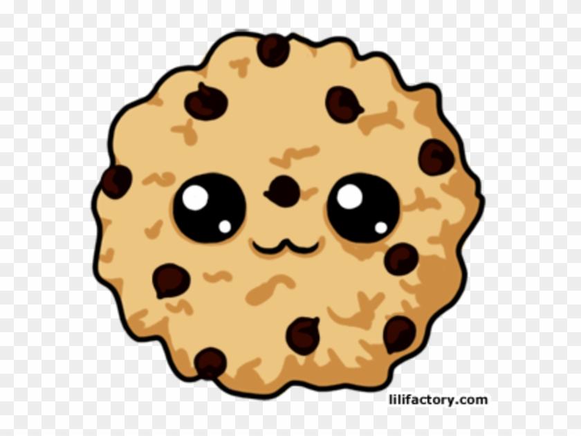 Pin Bitten Chocolate Chip Cookies Clipart - Cute Cartoon Chocolate Chip Cookies - Png Download #634056